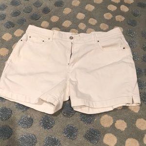 Levi's White Shorts